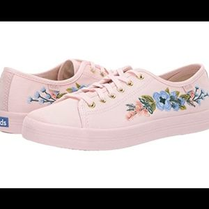 Keds x Rifle Paper Co. Kickstart Embroidered Blush